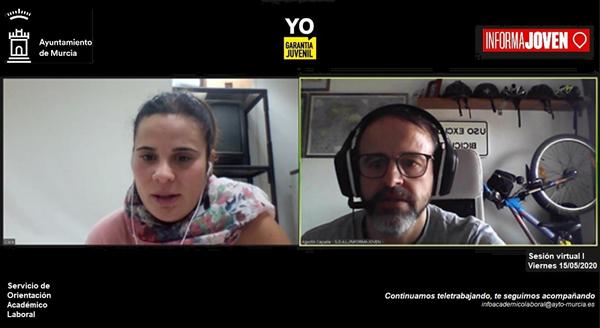 Sesión virtual de atención online del Servicio de Orientación Académico Laboral